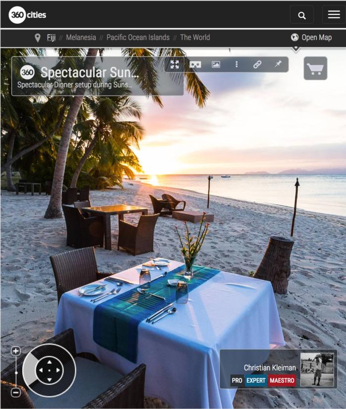 Espectacular puesta en escena - Vomo Island Resort - Foto Pano 360 VR