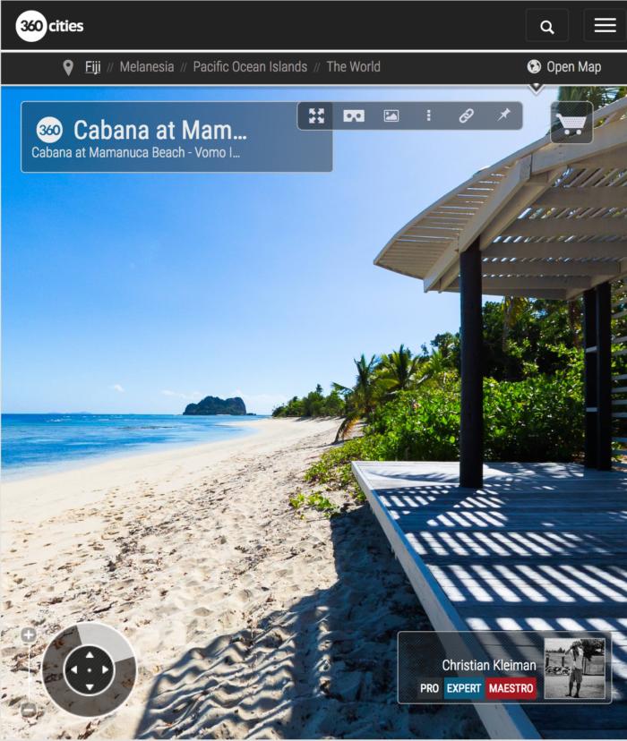 Cabana at Mamanuca Beach - Vomo Island, Fiji - 360 VR Pano Photo