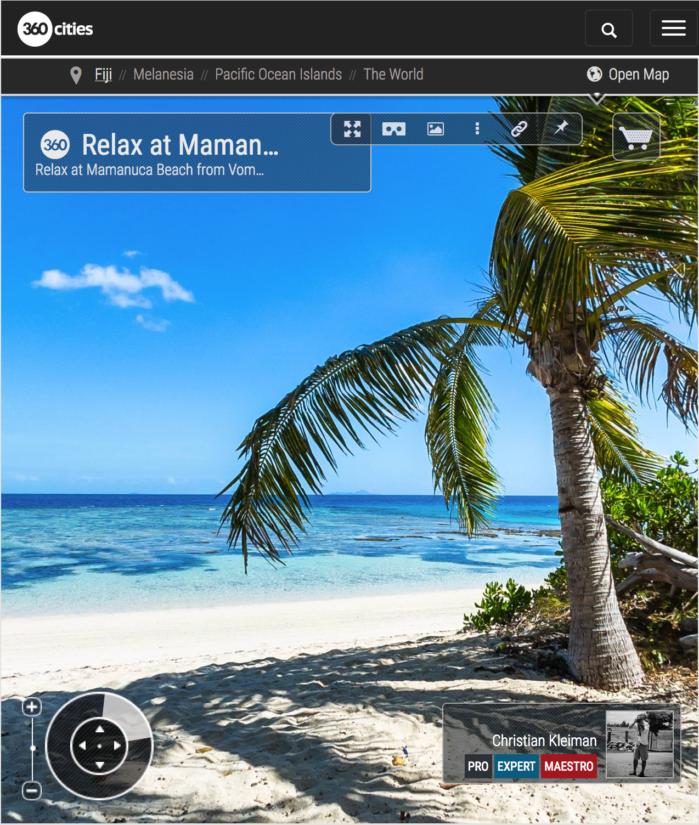 Relax en la Playa de Mamanuca - Vomo Island - Fiji - Foto Pano 360 VR
