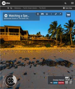 Espectacular puesta de Sol - Isla Vomo - Fiji - Foto Pano 360 VR
