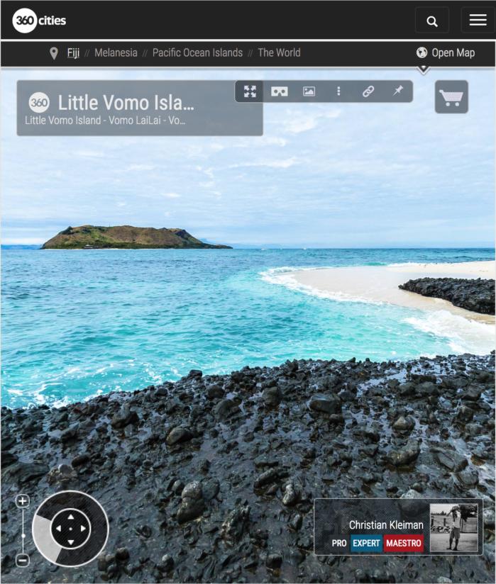 Vomo LaiLai - Pequeña Isla de Vomo - Vomo, Fiji - Foto Pano 360 VR