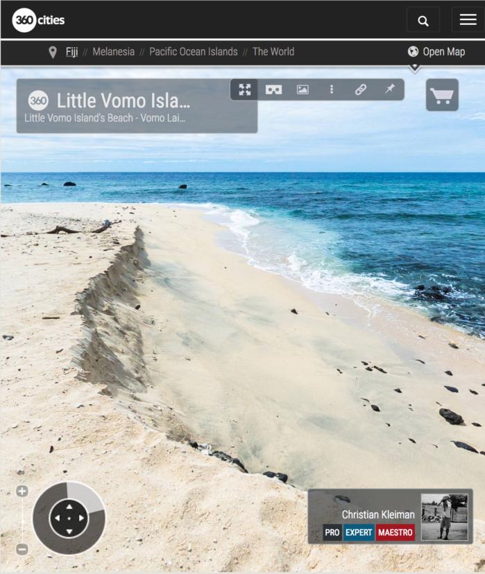 Playa de Vomo LaiLai - Vomo Island, Fiji - Foto Pano 360 VR
