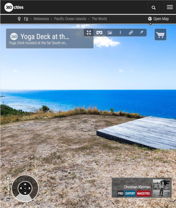 Cubierta de Yoga - Extremo Sur Isla de Vomo, Fiji - Foto Pano 360 VR