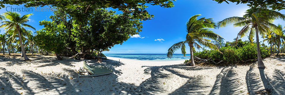 Relax at Mamanuca Beach - Vomo Island, Fiji - 360 VR Pano Photo