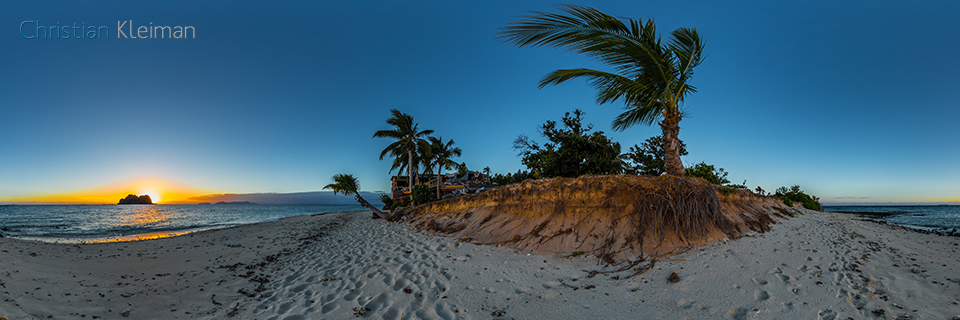 Sunset at The Rocks Beach - Vomo Island Resort - 360 VR Pano Photo