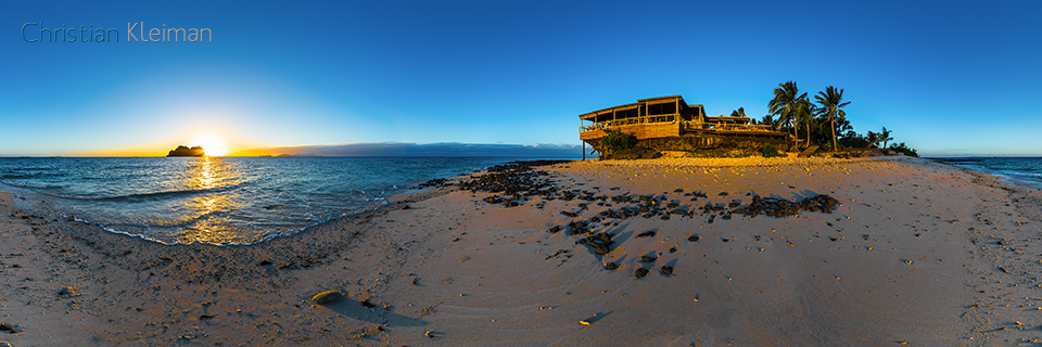 Spectacular Sunset at The Rocks Bar - Vomo Island - 360 VR Pano Photo