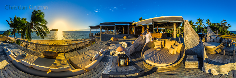 The Rocks - Chill Out at Vomo Island Resort, Fiji - 360 VR Pano Photo