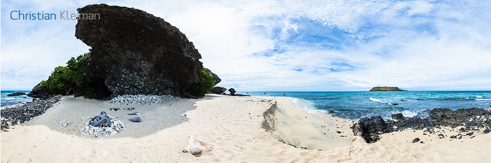 Beach of Vomo LaiLai - Little Vomo Island, Fiji - 360 VR Pano Photo