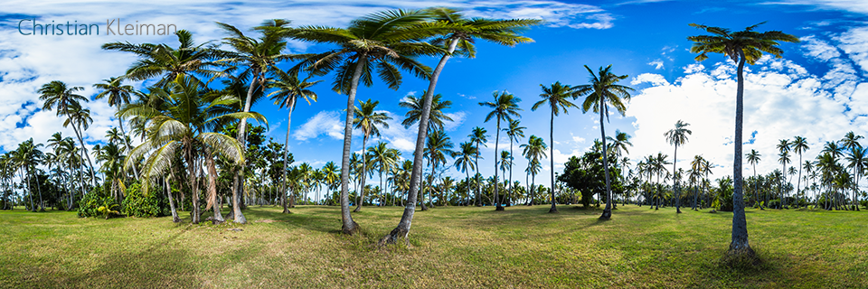 Golf Course at Vomo Island Resort, Fiji - 360 VR Pano Photo