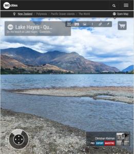 Vista 360 VR desde el Lago Hayes - Queenstown, Nueva Zelanda