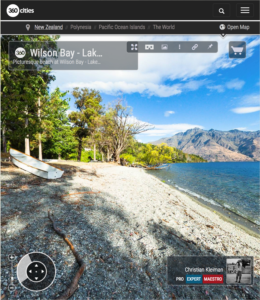 360 VR Pano Photo of a Picturesque beach in Queenstown, New Zealand