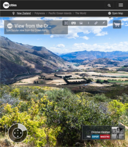 360 Photo from Crown Range Road Lookout - Queenstown, New Zealand