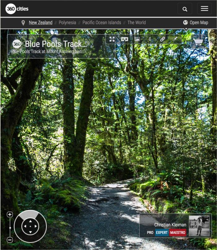 360 Photo - Blue Pools Track - Mount Aspiring National Park, New Zealand