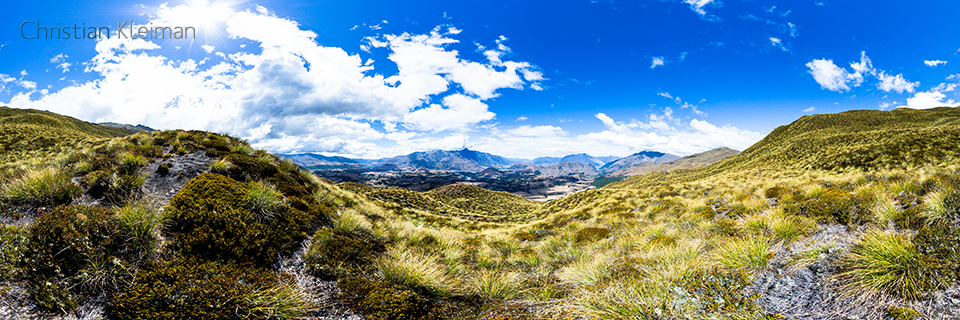 360 VR Pano Photo view at Coronet Peak - Queenstown, New Zealand