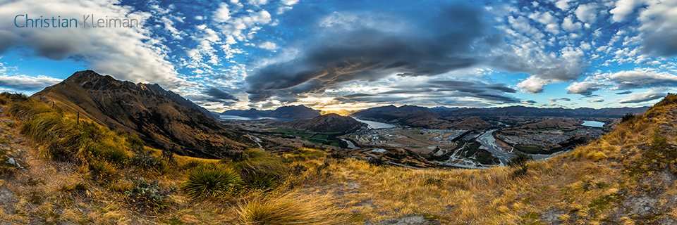 360 VR Pano Foto de The Remarkables - Queenstown, Nueva Zelanda