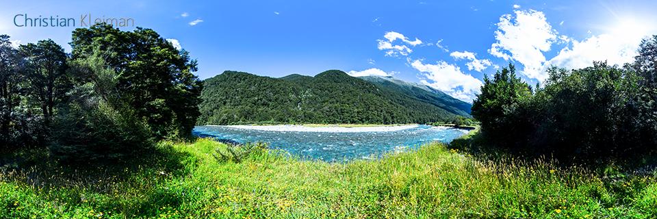 Foto 360 VR - Senda Histórica de Bridle - Parque Nacional del Monte Aspiring - Nueva Zelanda