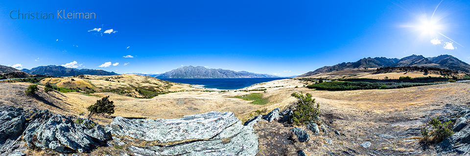 360 VR Photo - Stunning landscape at Lake Hawea - Queenstown, New Zealand