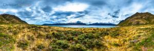 360 VR Photo - East mountain range at Lake Hawea - Queenstown, New Zealand