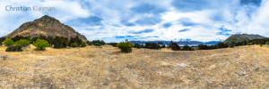 Foto 360 VR - Paisaje cautivador cerca del Lago Hawea - Queenstown, Nueva Zelanda