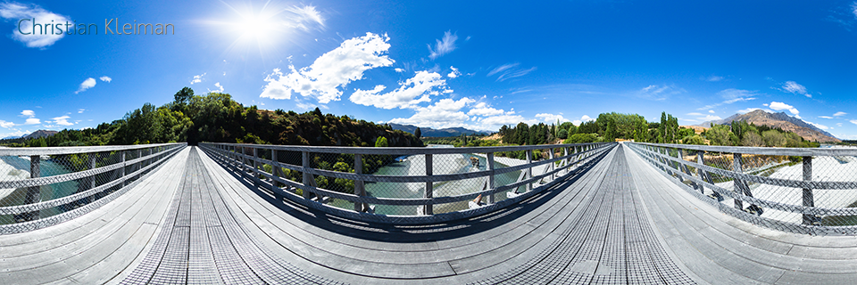 360 VR Pano Photo from the Shotover Bridge - Queenstown, New Zealand