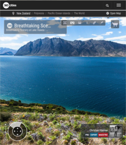 360 VR Photo. Breathtaking Scenery at Lake Hawea - Queenstown, New Zealand
