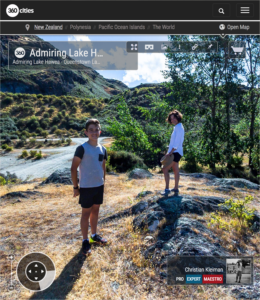 360 VR Photo. Admiring Lake Hawea - Queenstown, New Zealand