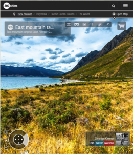 360 VR Photo - East mountain range at Lake Hawea - Queenstown, New Zealand