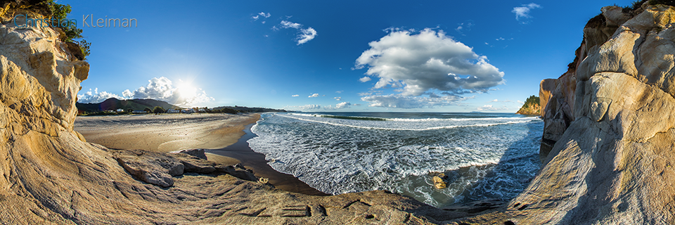 360 VR Photo. Whiritoa Beach. Coromandel - Waikato, New Zealand