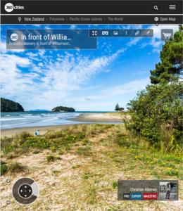 360 VR Photo. Williamson Park at Whangamata Beach. Coromandel. Waikato, New Zealand