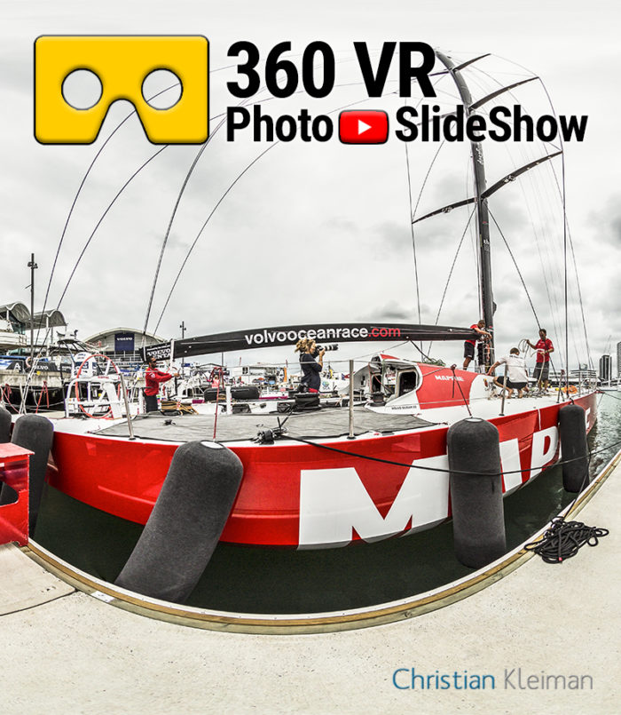 360 VR Video Experience from Volvo Ocean Race 2015. Auckland, New Zealand